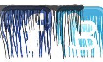 paint drip Facebook and twitter Logos, (c) Nicola Anthony