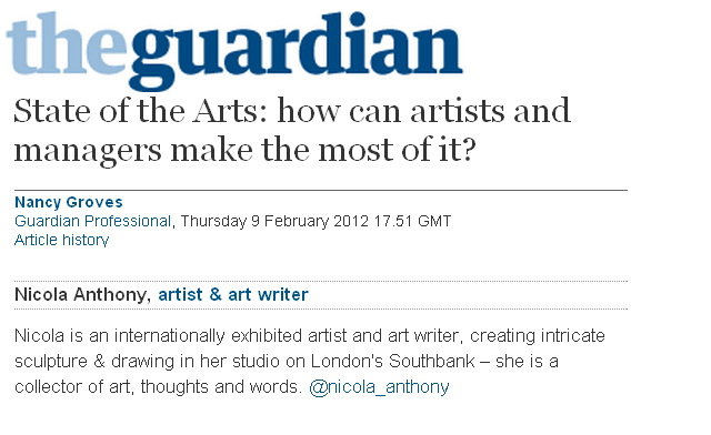 guardian debate_10 feb 2012_State of the Arts 2012