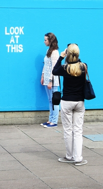 Invisible art outside Hayward Gallery southbank, article by Nicola Anthony