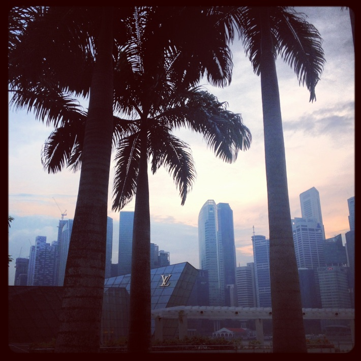November Sunset, Marina Bay,  Singapore - Photograph (c) Nicola Anthony
