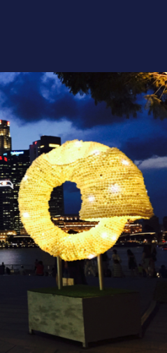 Ouroboros, Light sculpture by Nicola Anthony, 2015 (c)